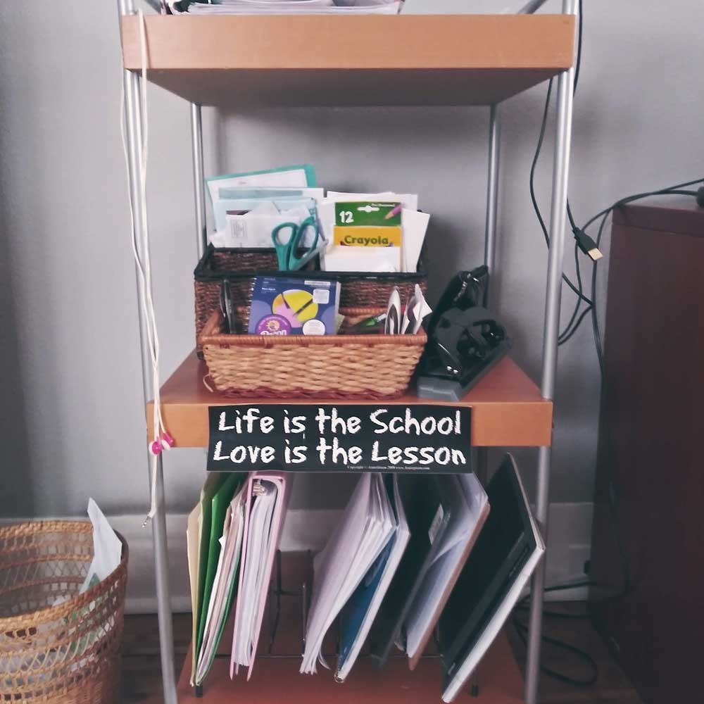 My rolling desk
